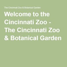 Welcome to the Cincinnati Zoo - The Cincinnati Zoo & Botanical Garden
