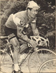 Poulador - on the road to Albi in 1968 Tour de France