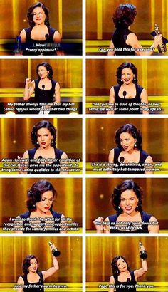 Lana Parilla- Evil Queen ,This is awesome,funny and sweet speech!! I
