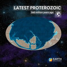 "By the latest Proterozoic, some 560 million years ago, glaciers had three times covered the Earth perhaps even to its equator, creating what some have called ""snowball Earth."" The continents that came to dominate the next era – the Paleozoic – were already in position. And a strange new group of organisms called the Ediacaran fauna came to dominate the world's oceans. #science #geology #paleontology #fossils #precambrian #continentaldrift #tectonic #earth"