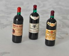 Bottles French red wine