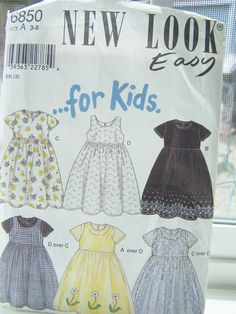 Simplicity New Look 6850 Girl's Pattern  Easy to by WitsEndDesign