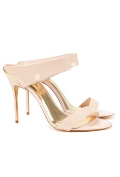 Ted Baker Chablis Heeled Mule Sandals - Nude Pink