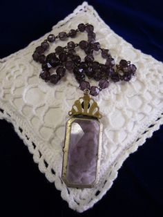 Amethyest Necklace by VintageAppleTreasure on Etsy