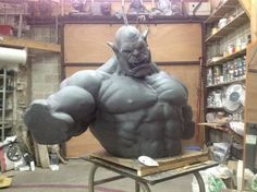 The incredible statue Grommash made by a French workshop | Blizzheart World of Warcraft