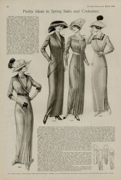 1913 Fashion Plate PG Pretty Ideas in Spring Suits | eBay