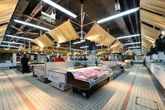 Image 2 of 27 from gallery of Yongnian Food Market, Julu Foods Group / Roarc Renew. Photograph by Freeman Toyo Foods, Asian Market, Mini Clubman, Store Interiors, Group Meals, The Neighbourhood, Lights, Marketing, Architecture