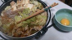 今朝は残り汁でオジヤをいただきました くまのレシピ) すき焼き風鍋 http://www.tokyonew.com/hirohiro3/?p=5781