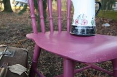 Old wooden painted vintage chair - Annie Sloan chalk paint