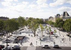 Paris' largest pedestrian square.