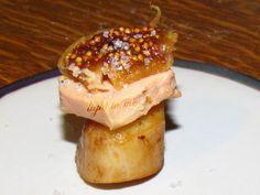 Bouchées de St-jacques au foie gras et figue (251Kcal)