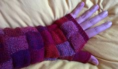 Mykoya's Squaries-Mitts: Prototype with link to knitting pattern for sale on Ravelry