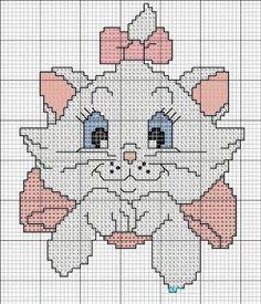 ponto cruz da gatinha marie - Pesquisa Google                                                                                                                                                                                 Mais