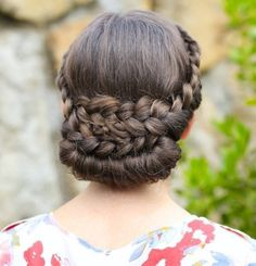 Braided Formal Updo - 20 Formal Updos for the Most Exciting Days in Your Life - The Trending Hairstyle - Page 12 Cute Bun Hairstyles, Sleek Hairstyles, Trending Hairstyles, Vintage Hairstyles, Girl Hairstyles, Braided Hairstyles, Braided Updo, Hair Maintenance Tips, Historical Hairstyles