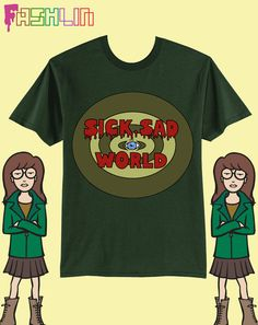 UNISEX Sick Sad World MTV 90s Daria Sweatshirt // fASHLIN
