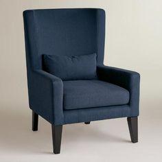 Indigo Blue Triton High Back Chair | World Market
