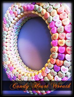 yummy upcycled candy wreath! owning something like this must be difficult to avoid licking off from :P
