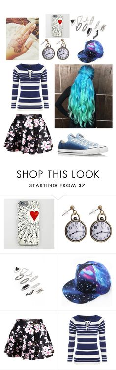 """""""Rain before Rainbows but also Dust before Debris"""" by smarty-owl ❤ liked on Polyvore featuring beauty, Topshop, Jane Norman and Converse"""