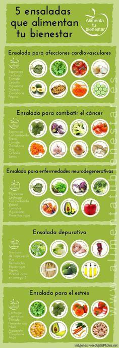 5 Ensaladas que protegen y curan enfermedades