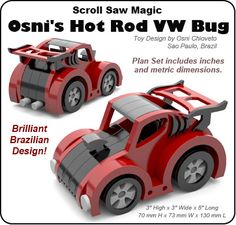 Scroll Saw Magic Osni's Hot Rod VW Bug Wood Toy Plan Set