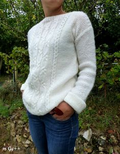 - Mon Premier Pull… Mon Premier Pull… (Patron maison) par m Gg++ Big Wool, Yarn Inspiration, Wool Vest, Learn How To Knit, Knitwear, Knit Crochet, Men Sweater, Knitting Ideas, Knits