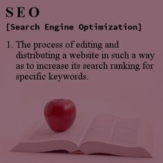 #SEO Definition #infographic: Search Engine Optimization is the process of editing and distributing a website in such a way as to increase its search ranking for specific keywords.