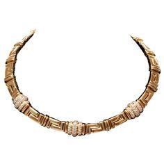 1stdibs | BVLGARI Diamond Yellow Gold Necklace