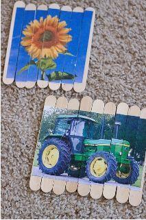 Postcard Popsicle Stick Puzzles