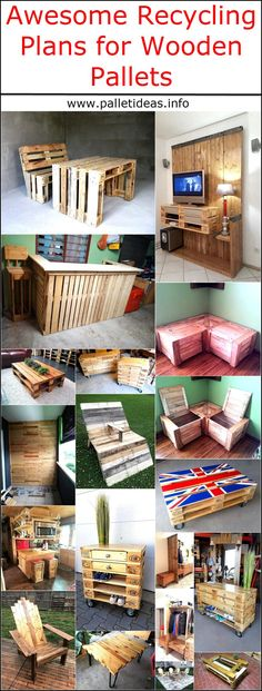 here are countless awesome recycling plans for the wooden pallets through which one can turn them into furniture or pet house, the tables made up of wooden pallets at home look like they are professionally created because of the neat look of the pallets. So, why to invest too much money in something that you can create at home with your own hands and can save the money? Here are multiple awesome wooden pallet recycling ideas: