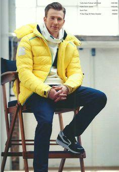 Chris Evans | Looks like an adorable, yellow marshmallow :) <3<3<3