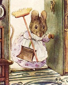 The Tale of Two Bad Mice..Hunca Munca (1904) by Beatrix Potter