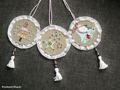Anhänger, Weihnachten, christmas, Weihnachtsdeko, Stoff, Perlen, nähen, christmas deco, pendant, fabric, sewing, bead,