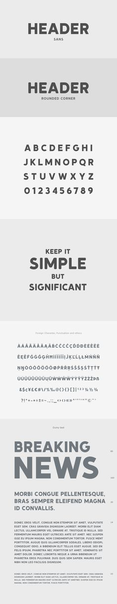 'Header Sans' and 'Header Rounded Corner' is an excellent font set, Perfect for headline, caption logo and many more. That will fit on your next design project.
