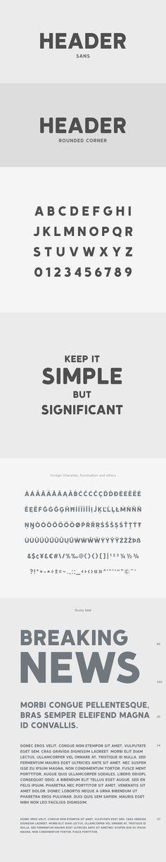 #Header #Font - Sans-#Serif Fonts Download here: https://graphicriver.net/item/header-font/17556123?ref=alena994