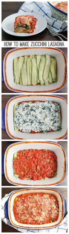 How to Make Zucchini Lasagna - I love this recipe for Zucchini Lasagna because it manages to be meaty while being low-carb.