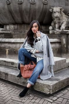 3 WAYS TO STYLE YOUR GREY COAT | TLNIQUE | Bloglovin'