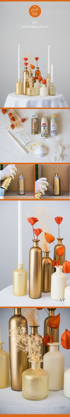 DIY Get the look: The perfect look for a fall wedding. A great finishing touch!
