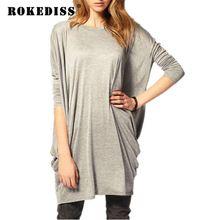 fbb856d4fe013 Loose T-shirt Women Newly Fashion Long T shirt Batwing Long Sleeve Tee  Shirts Tops