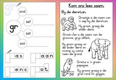 Teaching Resources for South African Teachers Preschool Education, Gifted Education, Preschool Learning, Learning Centers, Classroom Activities, Teaching Resources, 1st Grade Worksheets, Worksheets For Kids, Afrikaans Language