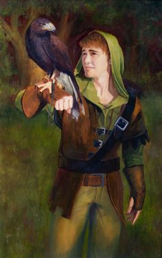By Joshua Wilson - Falconry - Oil on Linen