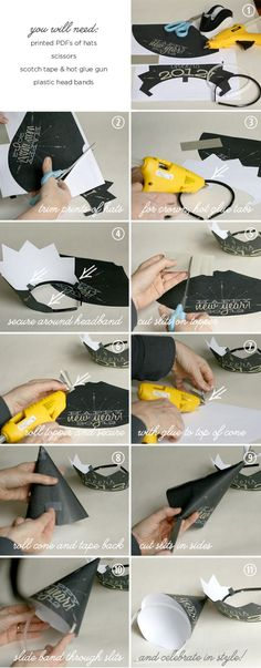 DIY New Years Party Hat Instructions