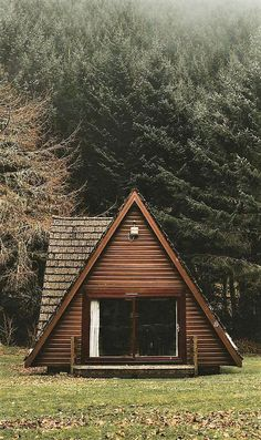 A-frame house -- I've always liked these.