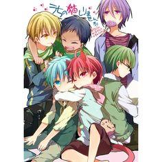 Kuroko & Kise & Aomine & Murasakibara & Akashi & Midorima   Kuroko no Basket #manga