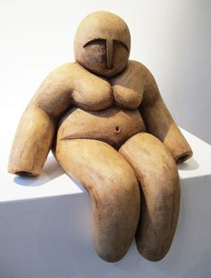 Large fat naked sculpture of sitting bald man 35 cm Handmade unique ceramic Large fat naked sculpture of sitting bald man sculpture, art three-dimensional art ceramic, home decor here you can select v