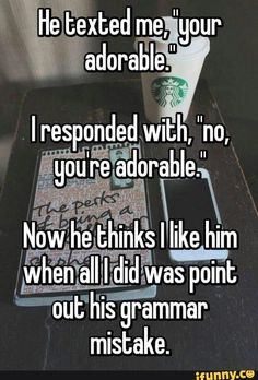 Yes... Bad grammar is one of my pet peeves so I can totally imagine myself doing this... if anyone would bother with me XD