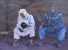Two wise old men - arabian shepherd's - Originals Old Men, Impressionist, Graham, Ship, Fine Art, The Originals, Gallery, Artist, Painting