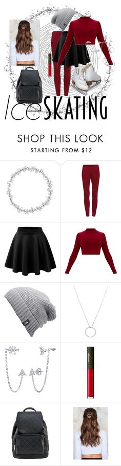 """ice skating"" by bakercakes ❤ liked on Polyvore featuring LE3NO, The North Face, Roberto Coin, BERRICLE, NARS Cosmetics, NA-KD and iceskatingoutfit"