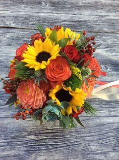 Ramo de novia girasoles Arimnay Estudi Floral