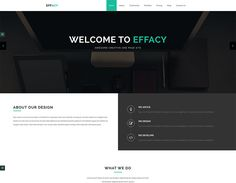 Effacy - Free Bootstrap One Page Portfolio Template - ReadyTheme Free Portfolio Template, First Page, Templates, Stencils, Template, Western Food, Patterns