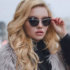 glamour to the winter days  @whyshyme in Cornelia... - Fuck Yeah Sunglasses
